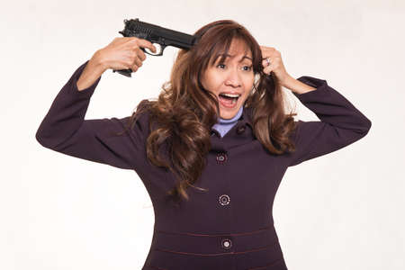 intent: Business woman  with suicidal intent