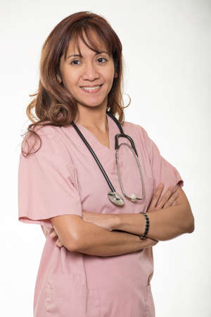 filipino adult: Attractive asian medical professional