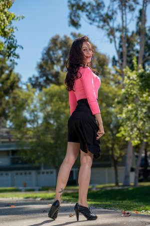 latina girl: Attractive hispanic brunette fashion woman