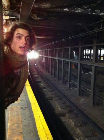 Waiting the subway NY