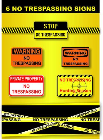 no trespassing: Ninguna violaci�n Signos