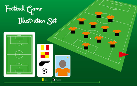 Football Description Set Vector