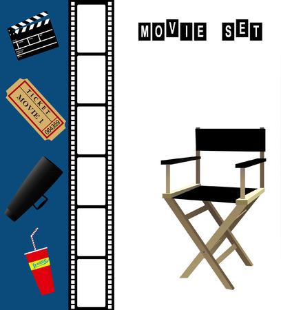 filmmaker: Movie Set Illustration