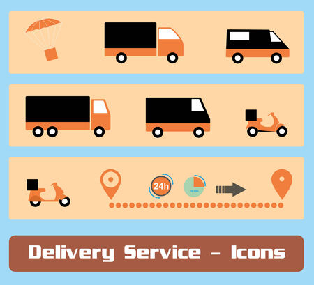 Delivery Service Icons Vector