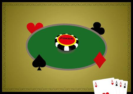 kartenspiel: Card Game Optik Illustration Illustration