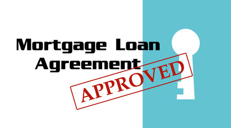 Mortgage Loan Approval Stamp - Keyhole Stock Vector - 27706903