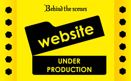 Site under Construction Background with Movie Theme Vector