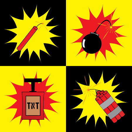 Cartoon Bomb Icon Set