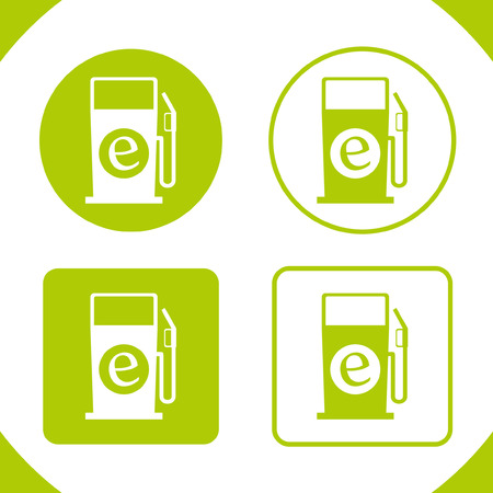 Eco Electric Pump Badges Vector