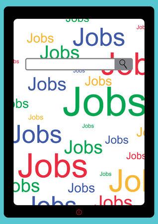 E jobs Search Screen - bar