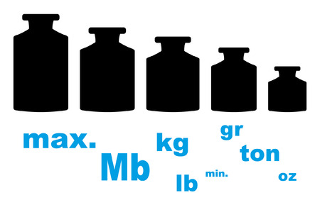 gb pound: Weights Icon Set