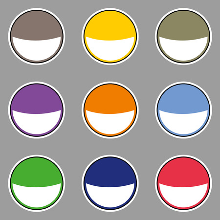 fell: Modern Smile Badges Set