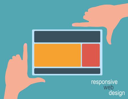 framing: Responsive Web Design, hands framing template