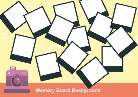 memory board: Blank Photography Memory Board Illustration