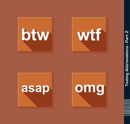 texting: Texting Abbreviations - Part 2, btw, wtf, asap, omg