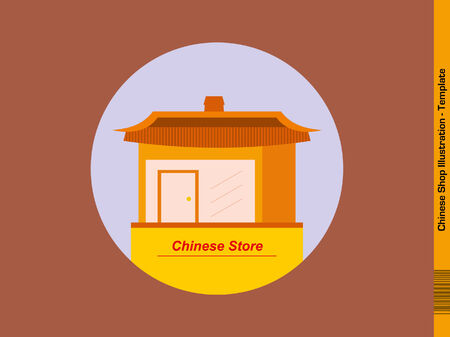 property of china: Chinese Store Template - Flat Design