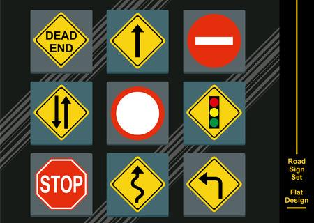 street signs: Street Signs Flat Design
