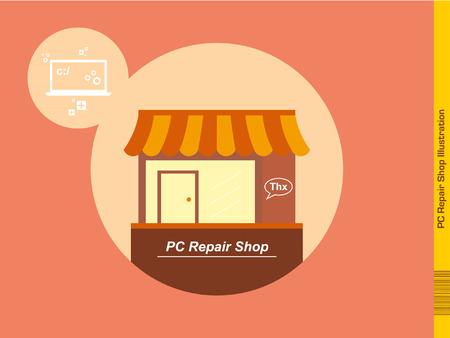 repair shop: Pc Repair Shop illustration