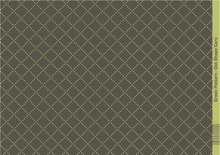 Green Composition of Dots creating an endless Pattern of repeating geometric Shapes (caro)
