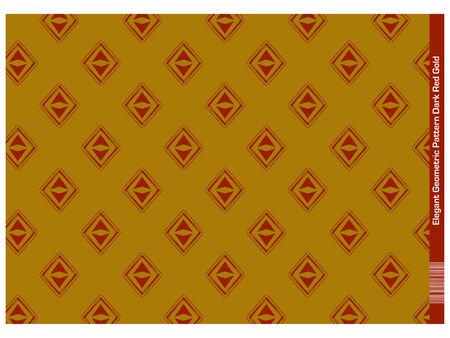 Elegant geometric Pattern (Red Gold)Illustration of geometric shapes (circle, triangle, caro)