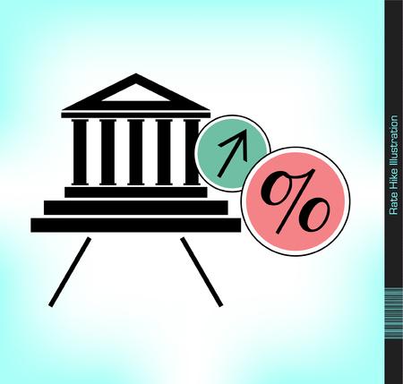 interests: Interest Rate Hike Illustration
