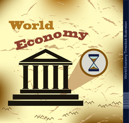 derrumbe: Econom�a Mundial Ilustraci�n Cerrar