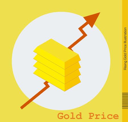 goldbars: Rising Gold Price Illustration
