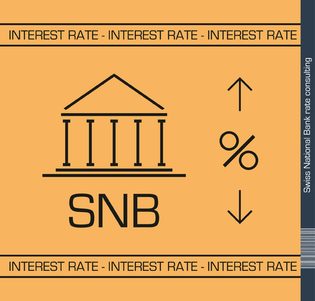 purchasing power: Swiss National Bank rates desicion Illustration