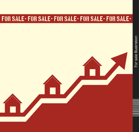 housing prices: Houses For Sale Illustration
