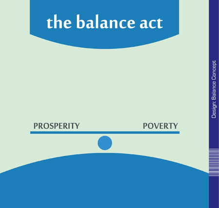 poverty: Balance between Prosperity and Poverty - Illustration