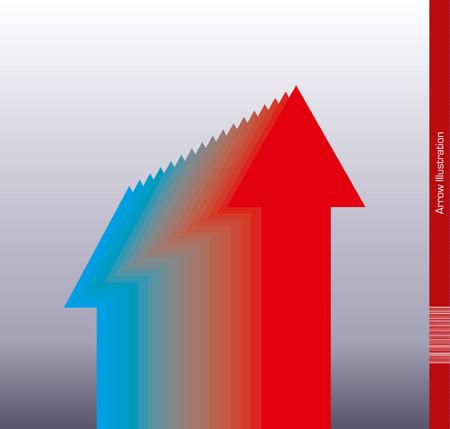 economizing: Heating up arrow Illustration