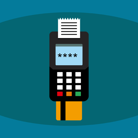pos: POS Terminal Illustration