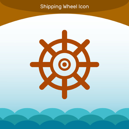 piloting: Shipping Wheel icon with Background