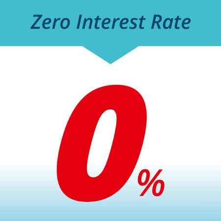 étiquette d'intérêt zéro