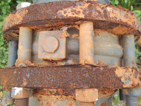 rusts: Rusty Butterfly valve Stock Photo