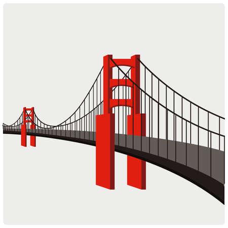 detroit: Vector illustration. Bridge. Illustration