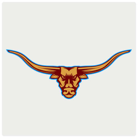 Bull Head Vector Illustration Illustration