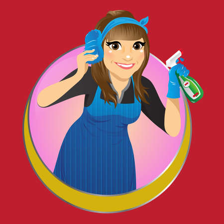 Vector illustration of a  cleaning service