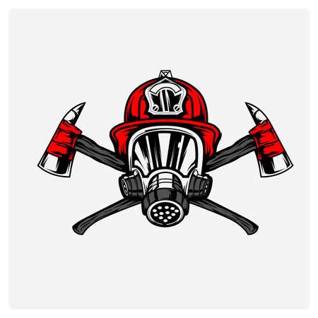 Ilustración vectorial bomberos Ilustración de vector