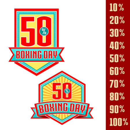 Happy Boxing Day sale. Vector royalty free stock illustration for greeting card, promotion, poster and banner website