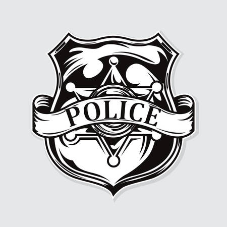 police badge symbol. vector illustration.
