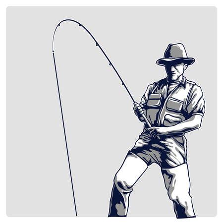pêcheurs Vector illustration