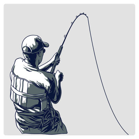 Vector illustration fishermen Illustration