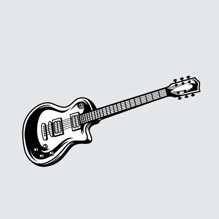 Guitar icon vector, Acoustic musical instrument.