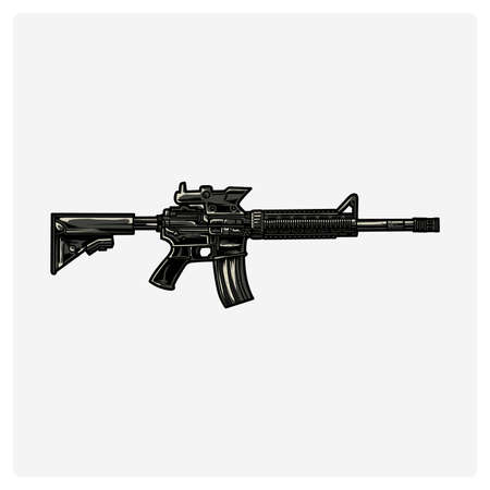 그림 벡터 AR-15 라이플 일러스트