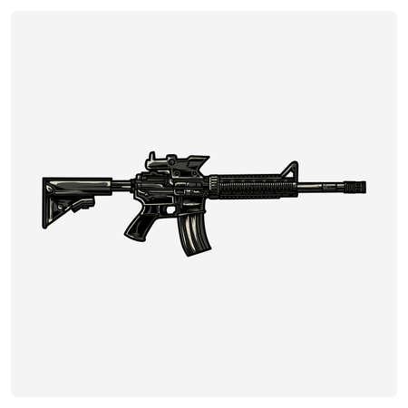 Illustration vector AR-15 rifle