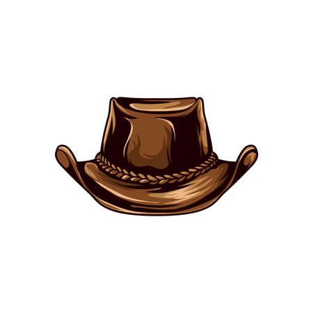 'hide out': cowboy hat. vector illustration.