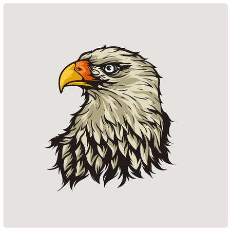 Head eagle. Vector illustration. Vettoriali