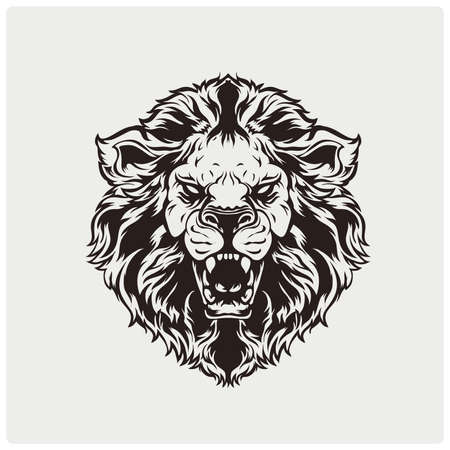 Lion head illustration Illustration