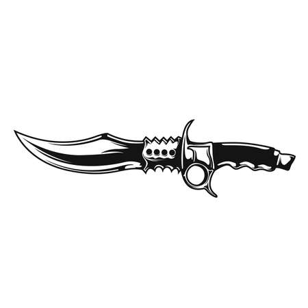 Vector illustration of knife blade Illustration